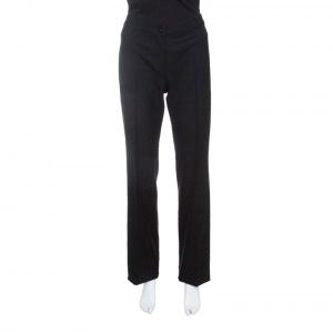 Max Mara Studio Black Wool Tailored Pants M