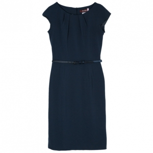 Max Mara Charcoal Fitted Dress S