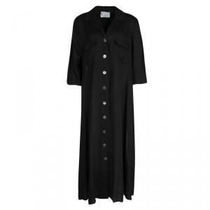 Max Mara Black Linen Shirt Dress L