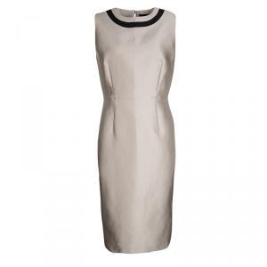 Max Mara Beige Sleeveless Cremona Dress L