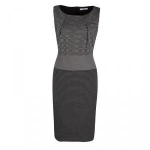 Max Mara Monochrome Knit Sleeveless Dress M