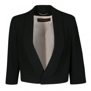Max Mara Black Fitted Cropped Blazer M