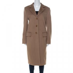 Max Mara Camel Beige Wool Long Coat L