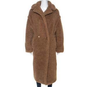 Max Mara Tan Alpaca Blend Oversized Teddy Coat S