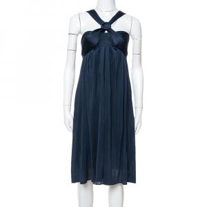 فستان ماكس مارا أزرق ميدنايت جيرسيه رقبة حمالات مقاس متوسط - ميديوم