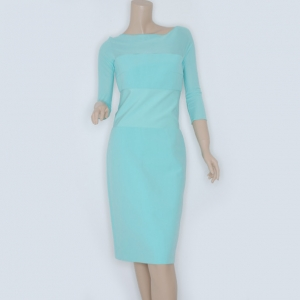 Max Mara Tiffany Blue 3/4 Sleeve Dress Size M