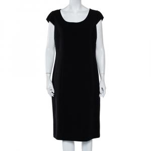Max Mara Black Wool Sheath Dress L - used