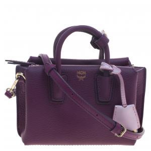 MCM Purple Leather X Mini Milla Crossbody Bag