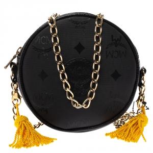 MCM Monogram PVC and Leather Round Suzy Wong Shoulder Bag