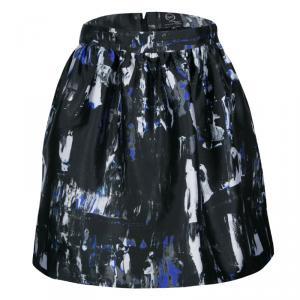 McQ by Alexander McQueen Richter Print Gathered Skirt M