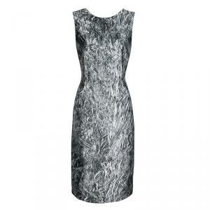 Mcq By Alexander McQueen Printed Foil Effect Sleeveless Dress M