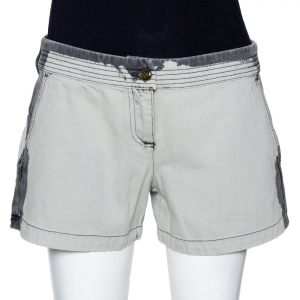 McQ by Alexander McQueen Grey Denim Back Cutout Detail Shorts M - used