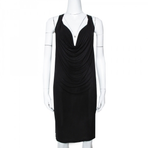 McQ by Alexander McQueen Black Jersey Cowl Neck Dress S - used