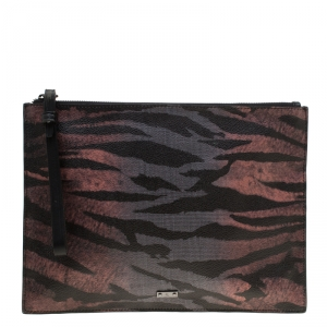 MCQ by Alexander McQueen Multicolor Printed Leather Envelop Clutch