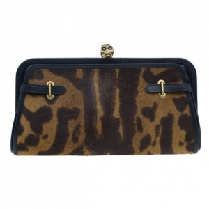 McQ by Alexander McQueen Calf Hair Convertible Leopard Clutch