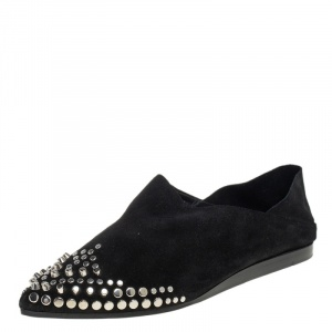 McQ by Alexander McQueen Black Suede Liberty Folding Flats Size 38 - used