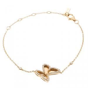 Messika Butterfly Ajouré Diamond 18k Rose Gold Bracelet