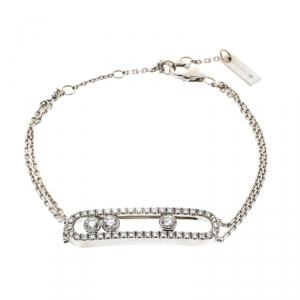 Messika Move Classic Pavé Diamonds & 18k White Gold Bracelet