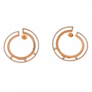 Messika Move Romane 18k Rose Gold Large Hoop Earrings