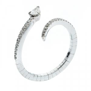 Messika Snake Skinny Diamond 18k White Gold Open Ring Size 49
