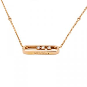 Messika 18K Rose Gold Move Diamond Necklace
