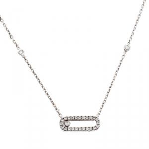 Messika Move Uno Diamond 18k White Gold Necklace