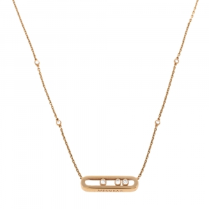 Messika Baby Move Diamond 18K Rose Gold Necklace