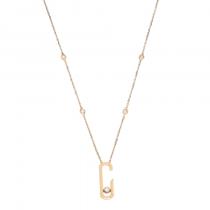 Messika Move Addiction Diamond 18k Rose Gold Necklace