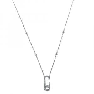 Messika Move Addiction Pave Diamond 18K White Gold Necklace