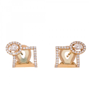 Messika Glam'Azone Diamond 18K Rose Gold Earrings