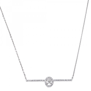 Messika Glam'Azone Diamond 18K White Gold Necklace