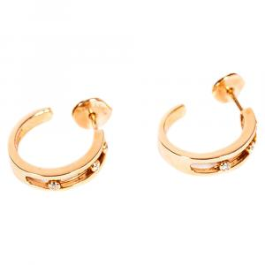 Messika Move 18K Rose Gold Diamonds Hoop Earrings
