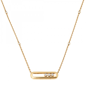 Messika Baby Move Diamond 18K Yellow Gold Pendant Necklace
