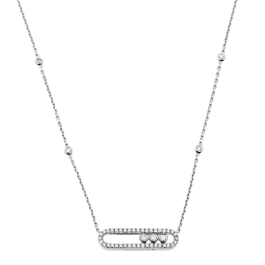 Messika Baby Move Pavé Diamond 18K White Gold Necklace