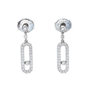 Messika Move Uno Stud Diamond 18K White Gold Earrings