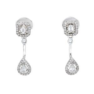 Messika My Twin Toi & Moi Diamond 18K White Gold Earrings