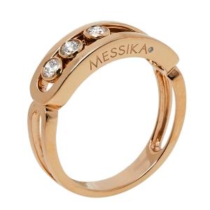 Messika Move Classic Diamond 18K Rose Gold Ring Size 58