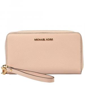 "Michael Kors Light Pink Leather ""Jet Set"" Wallet"