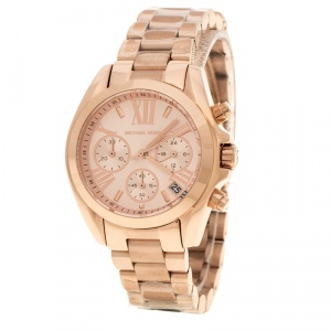 Michael Kors Rose Gold Plated Steel Bradshaw Chronograph MK5799 Women's Wristwatch 37 mm