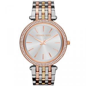 Michael Kors Silver Rose Gold Plated Steel Darci MK3203 Women's Wristwatch 39MM