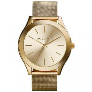 Michael Kors Yellow Gold Plated Steel Runway MK3282 Women's Wristwatch 42MM