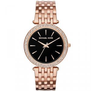 Michael Kors Black Rose Gold Plated Steel Darci MK3402 Women's Wristwatch 39MM
