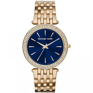 Michael Kors Blue Yellow Gold Plated Steel Darci MK3406 Women's Wristwatch 39MM