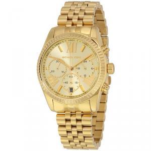Michael Kors Yellow Gold Plated Steel Lexington MK5556 Women's Wristwatch 38MM