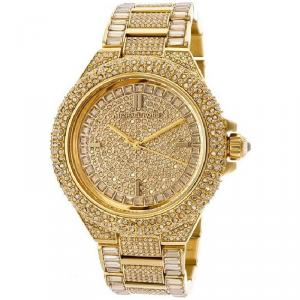 Michael Kors Yellow Gold Plated Steel Camille MK5720 Women's Wristwatch 43MM