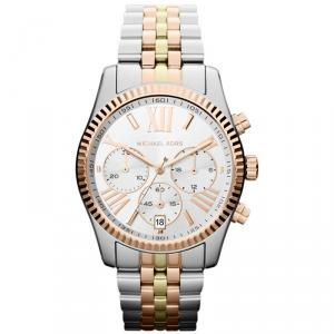 Michael Kors White Yellow Gold Plated Steel Lexington MK5735 Women's Wristwatch 38MM
