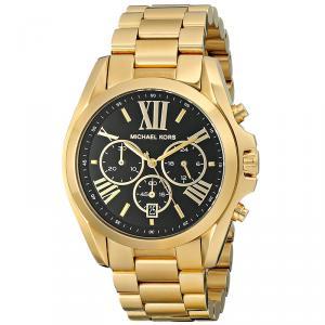 Michael Kors Black Yellow Gold Plated Steel Bradshaw MK5739 Women's Wristwatch 43MM