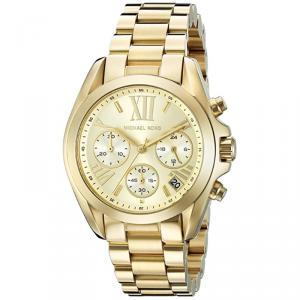 Michael Kors Champagne Yellow Gold Plated Steel Bradshaw MK5798 Women's Wristwatch 35MM