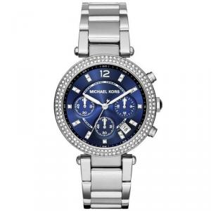 Michael Kors Blue Stainless Steel Parker MK6117 Women's Wristwatch 39MM