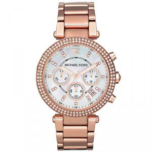 Michael Kors MOP Rose Gold Plated Steel Parker MK5491 Women's Wristwatch 39MM